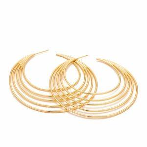 Gorjana Gold Casey Profile Drop Hoop Earrings